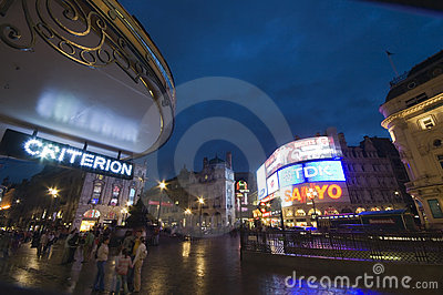 London - Piccadilly Circus Editorial Photography