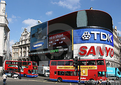 London - Piccadilly Circus Editorial Stock Photo