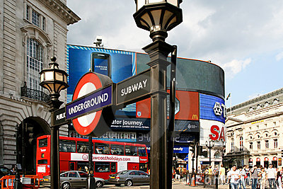 London, Piccadilly Circus Editorial Photo