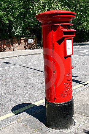 Free London Postbox Royalty Free Stock Photography - 8330977