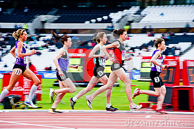 London prepares: women s 3000m  Editorial Stock Image