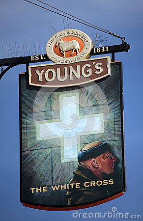 London pub sign Editorial Stock Photo