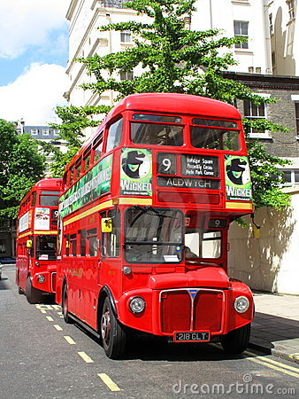 London Red Double Decker Bus Editorial Stock Photo