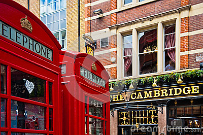 London Red Telephone Booth Editorial Stock Image