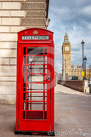 Free London Red Telephone Cabin. Royalty Free Stock Photography - 57631747