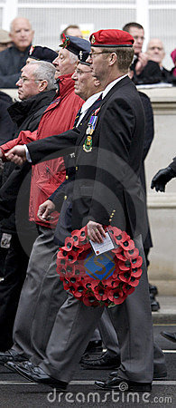 London - Rememberance Parade Editorial Stock Photo