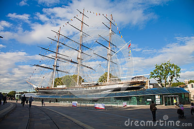 London, restored Cutty Sark Editorial Image