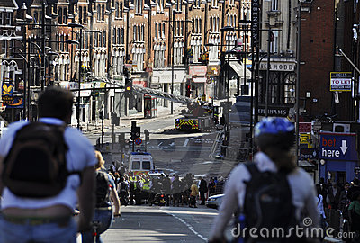 London riots aftermath, Clapham Junction Editorial Photography