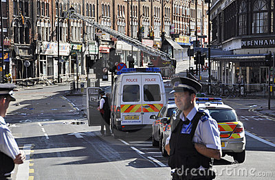London riots aftermath, Clapham Junction Editorial Photo