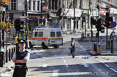 London riots aftermath, Clapham Junction Editorial Stock Image