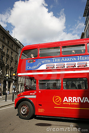 London Route Master Bus Editorial Stock Image