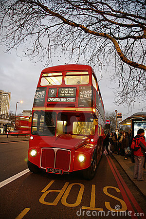 London Route Master Bus Editorial Photo