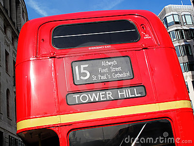 London Routemaster red double decker bus Editorial Photography