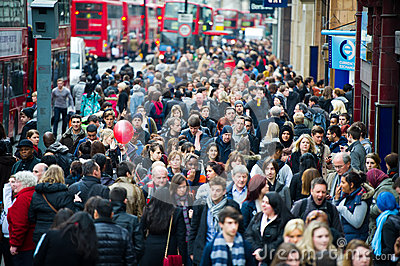 London at rush hour - people going to work Editorial Photography