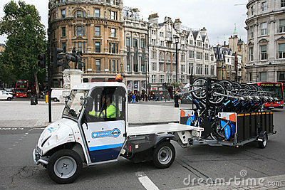 London s bicycle sharing scheme Editorial Image