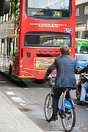 London s bicycle sharing scheme Editorial Photography