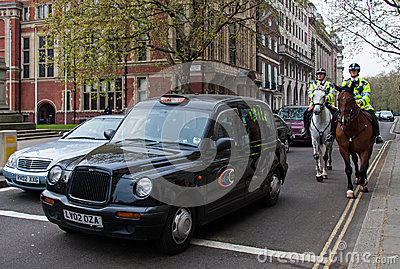 London s cab Editorial Photo