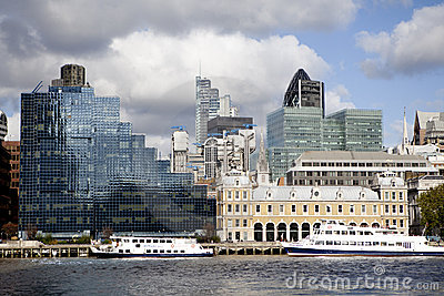 London s City Financial District Editorial Stock Image