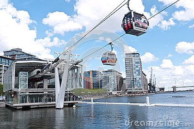London s first cable car opens. Editorial Photo