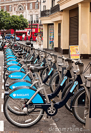 London s new bike hire  scheme. Editorial Stock Image