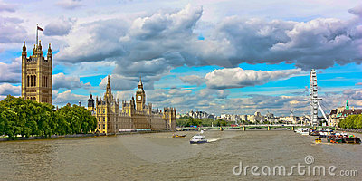 London s River Thames Editorial Stock Photo