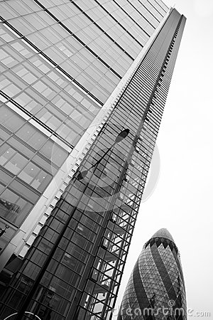LONDON - SEPTEMBER 21: 30 St Mary Axe, Swiss Re, Gherkin Editorial Photography