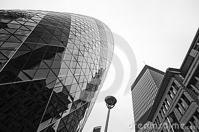 LONDON - SEPTEMBER 21: 30 St Mary Axe, Swiss Re, Gherkin Editorial Image