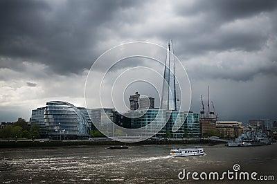 London shard and city hall