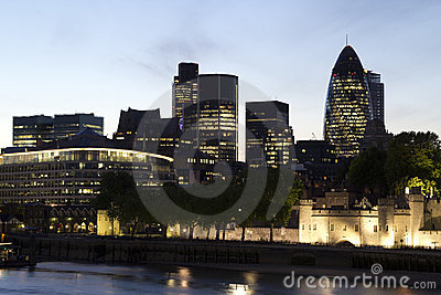 London Skyline Editorial Image