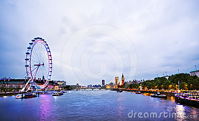 London Skyline Editorial Stock Photo