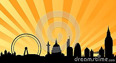 London skyline beams background