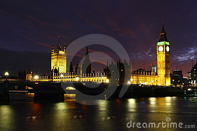 London Skyline and Big Ben, England
