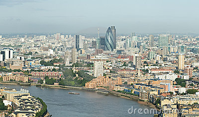 London skyline from Canary Wharf