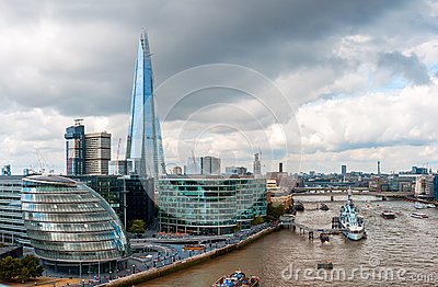 London Skyline with City Hall and the Shard
