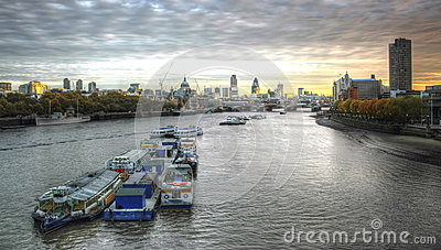 London sunrise. View of city Editorial Stock Image