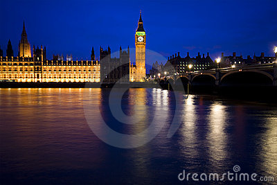 London skyline, house of parliament, big ben