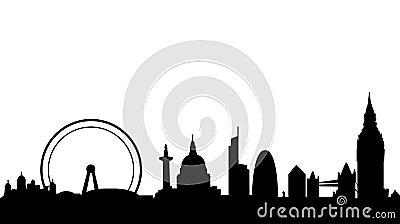 London skyline and landmarks