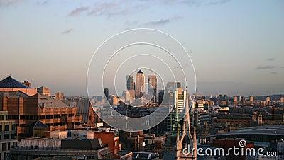 London Skyline looking to Canary Warf