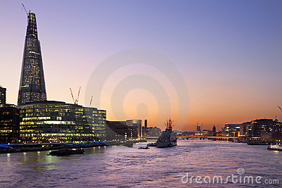 London Skyline - River Thames - Great Britain