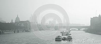 London skyline seen from Waterloo Bridge