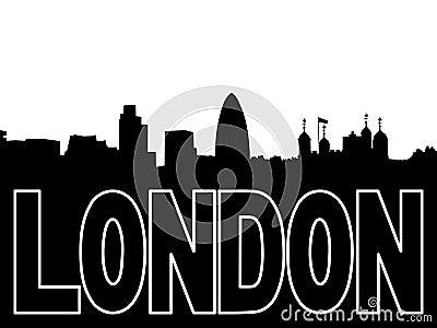 London skyline silhouette illustration