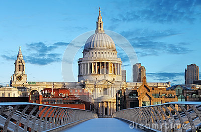 London St. Paul Cathedral, UK Editorial Photo