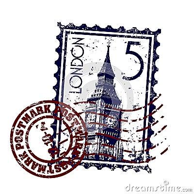 London stamp or postmark style grunge