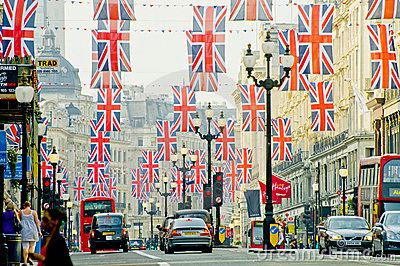 London-Straße Redaktionelles Stockfoto