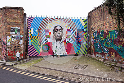 London Street Art Editorial Stock Photo