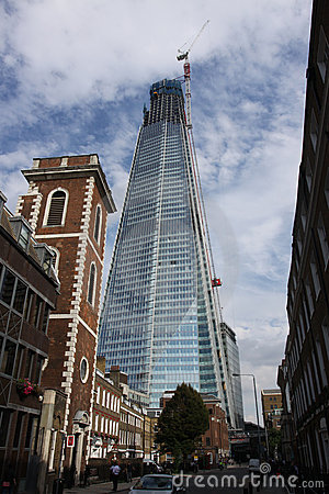 London street scene with The Shard Editorial Image