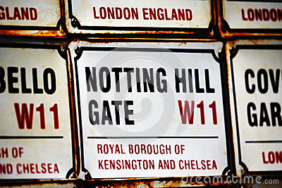London Street Sign, NOTTING HILL GATE