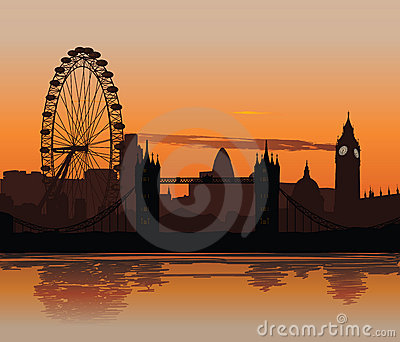 London at sunset Editorial Image