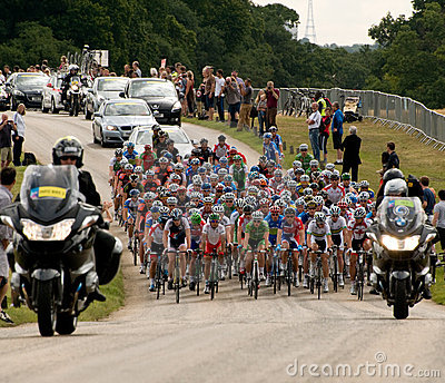 London Surrey Classic Cycle Race Editorial Stock Image