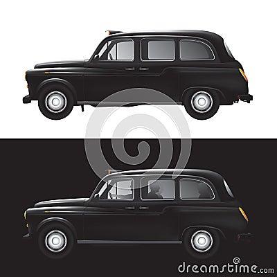 London symbol -  black cab - isolated